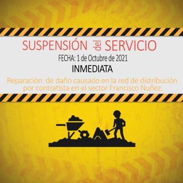 ATENCION SUSPENCION INMEDIATA DEL SERVICIO.